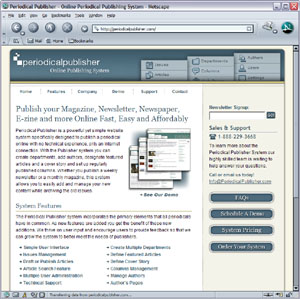 Periodical Publisher - Online Periodical Publishing System
